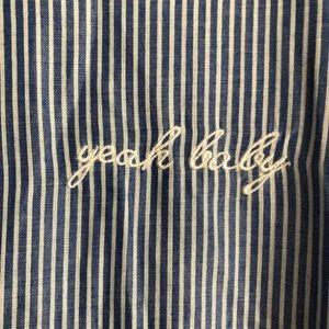 """Statement Tops - Statement • """"Yeah Baby"""" Button Down"""